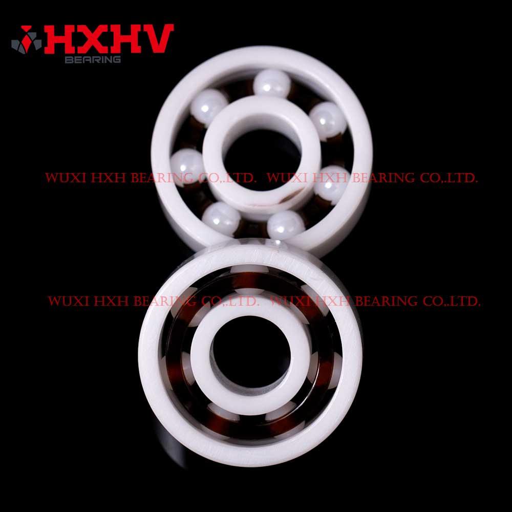 HXHV full ceramic ball bearing 608 with 7 ZrO2 balls and nylon retainer