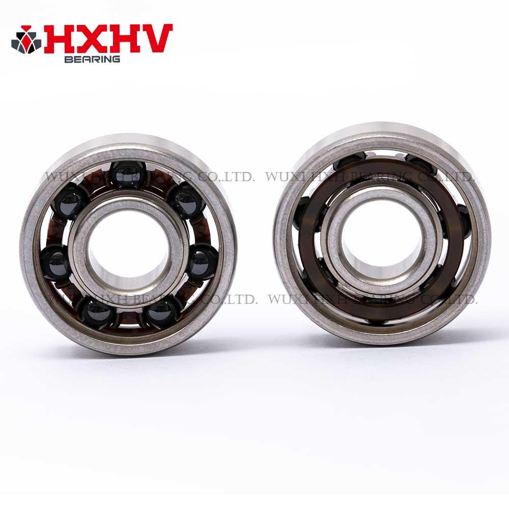HXHV hybrid ceramic bearing 608 with 7 Si3N4 balls steel rings and nylon retainer (3)