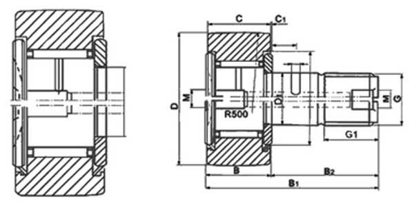 CF8-19mm-Cam-Follower-Needle-Roller-Bearings-