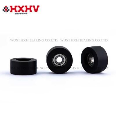 HXHV black rubber wheels