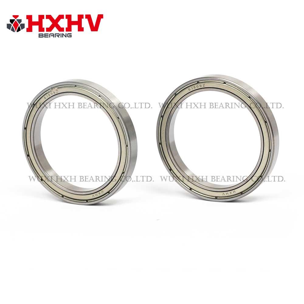 HXHV chrome steel ball bearing 61809 zz with size 45x58x7 mm