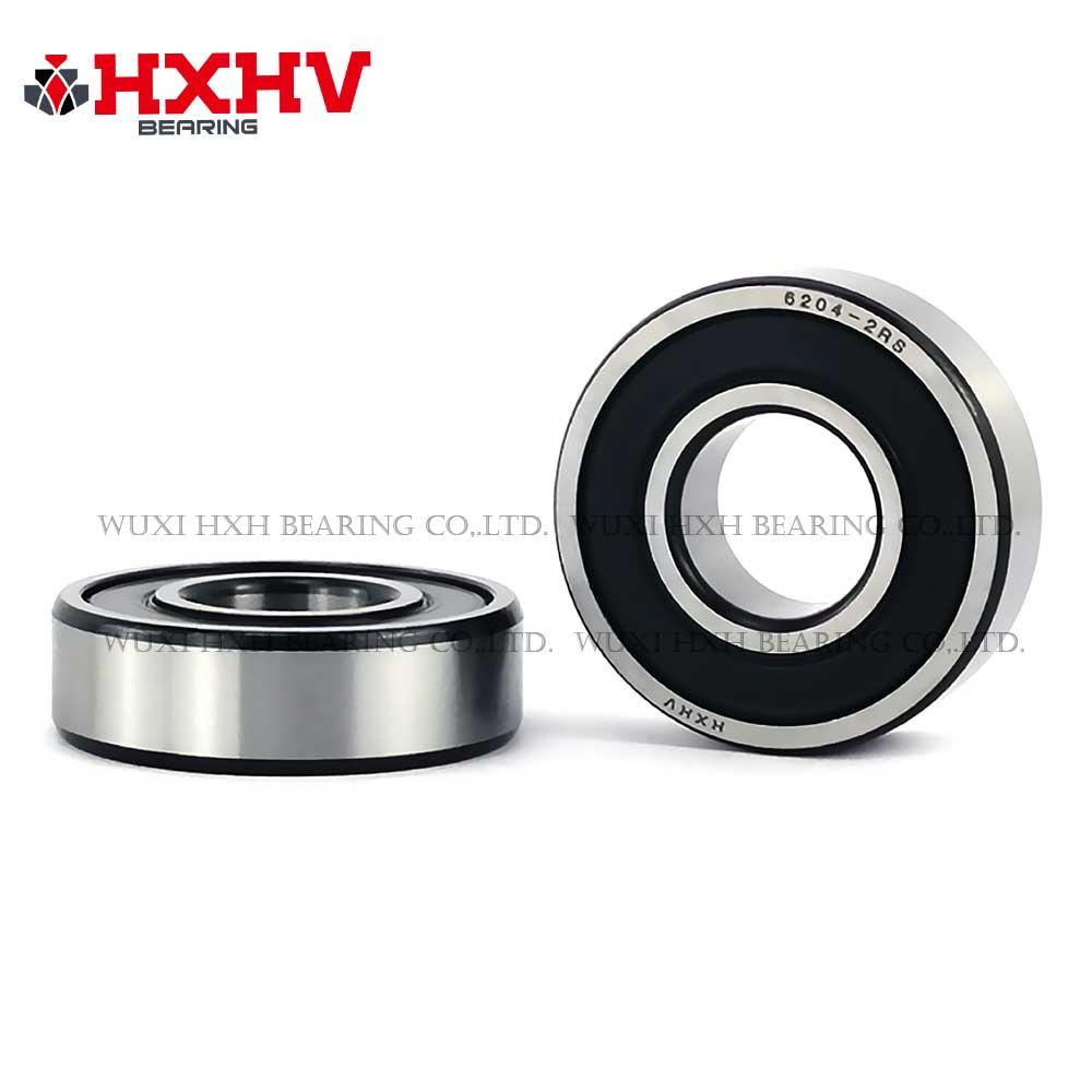 HXHV chrome steel ball bearing 6204-2RS with black edge (1)