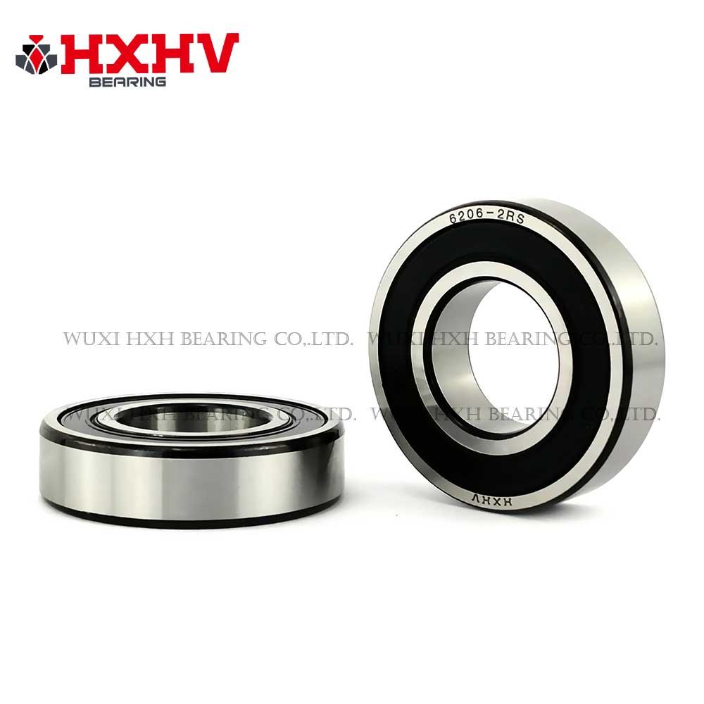 HXHV chrome steel ball bearing 6206-2RS with black edge (1)