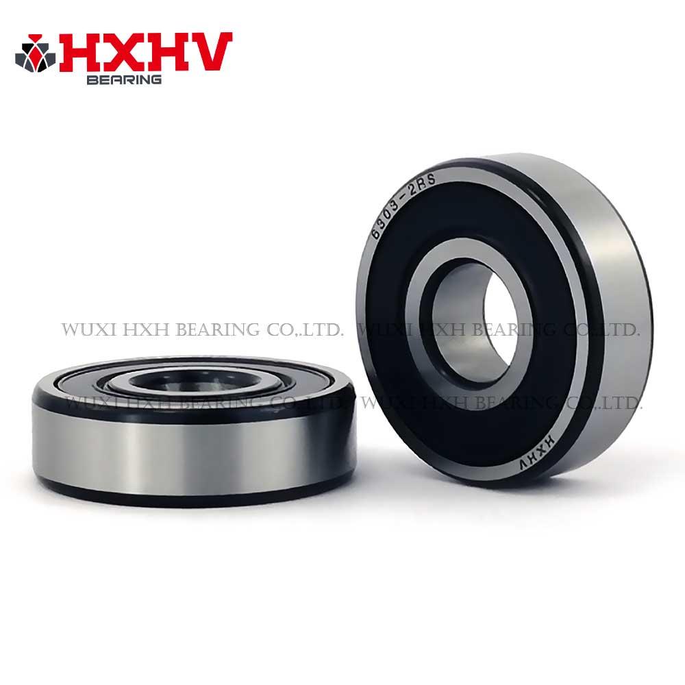 HXHV chrome steel ball bearing 6303-2RS with black edge (1)