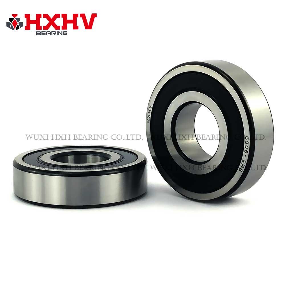 HXHV chrome steel ball bearing 6306-2RS with black edge (1)