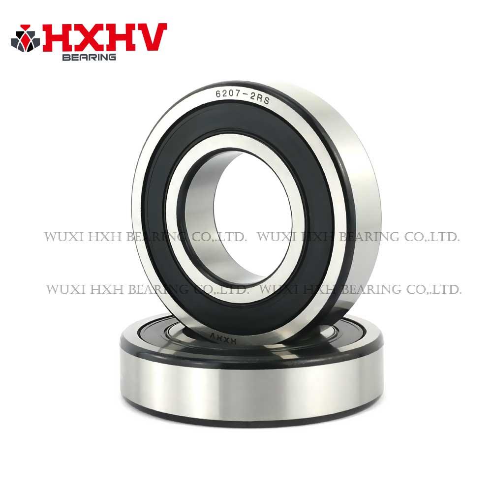 HXHV chrome steel ball bearings 6207-2RS with black edge (1)