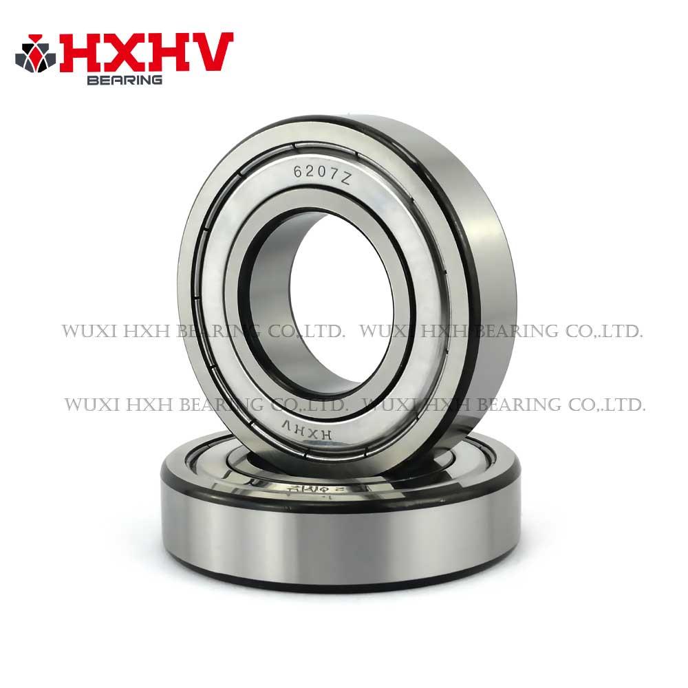 HXHV chrome steel ball bearings 6207zz with black edge (1)