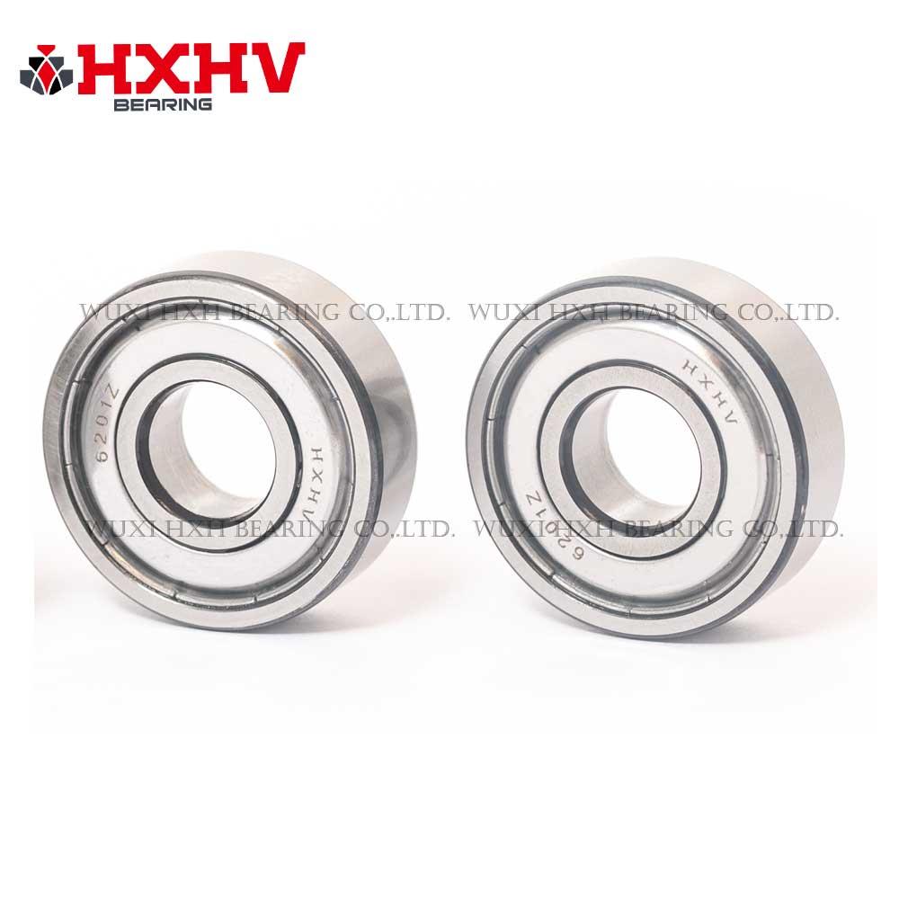 HXHV chrome steel ball bearing 6201-zz with black edge