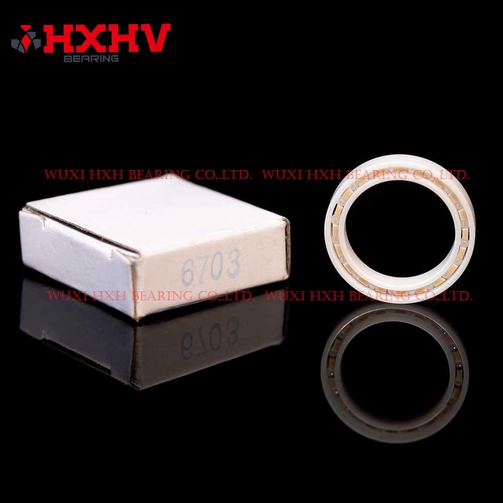 HXHV full ceramic ball bearings 6703 with 20 ZrO2 balls and PEEK retainer (1)